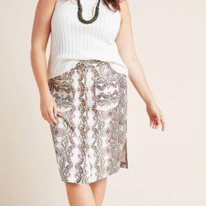 Anthro Maeve Kaleidoscope Pencil Skirt